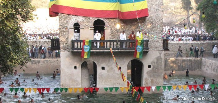 Timket festival in Lalibela or Gondar and historic route