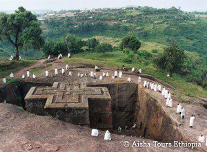The rock-hewn churches of Lalibela